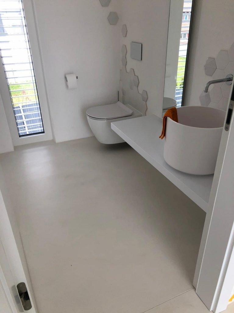 badezimmer boden beton ciré