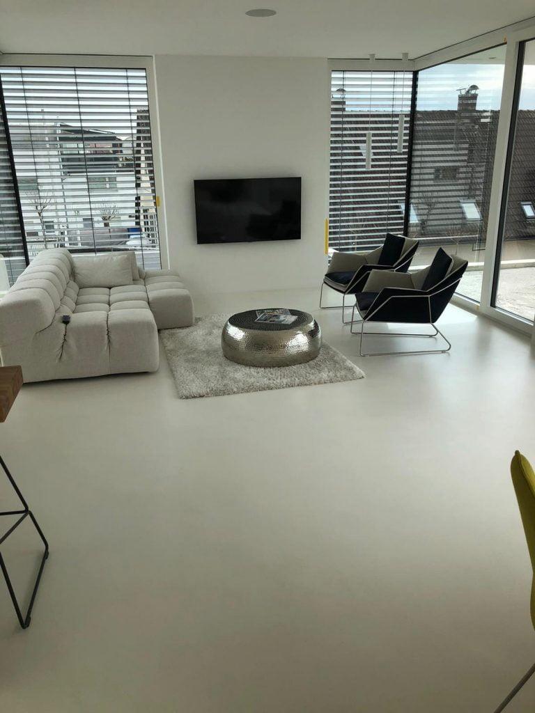 beton cire boden hell