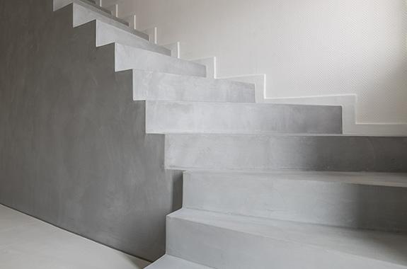 escaliers en cire de béton
