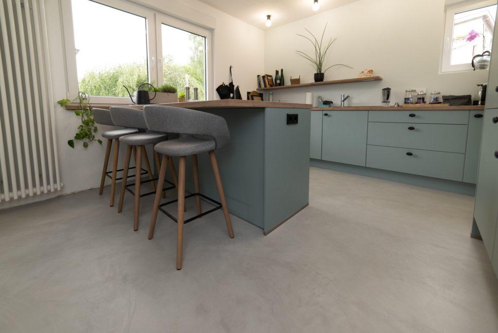 loft kuechenboden beton