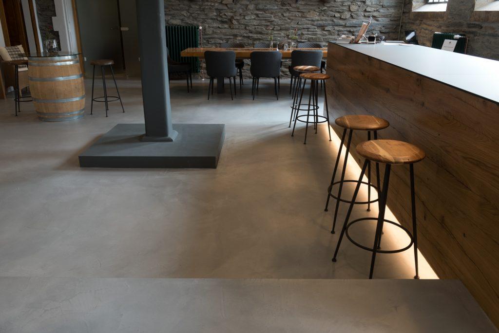restaurant microzement boden by raumkonzept nrw