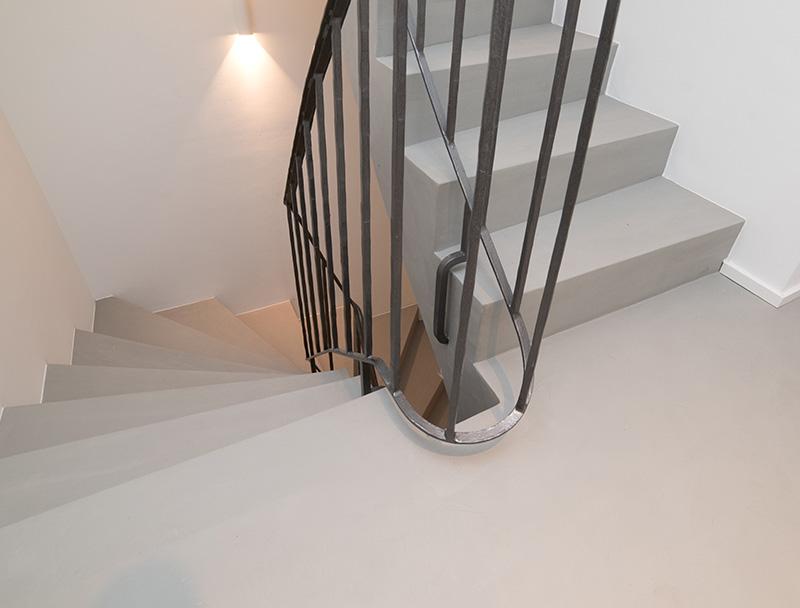 escaliers en béton cireux luxembourg